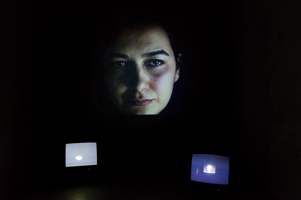 Sevim Sancaktar, Inferno 00:00, Installation, Photographs, Sound, Video, Dimensions variable Courtesy of the artist and CAM Gallery