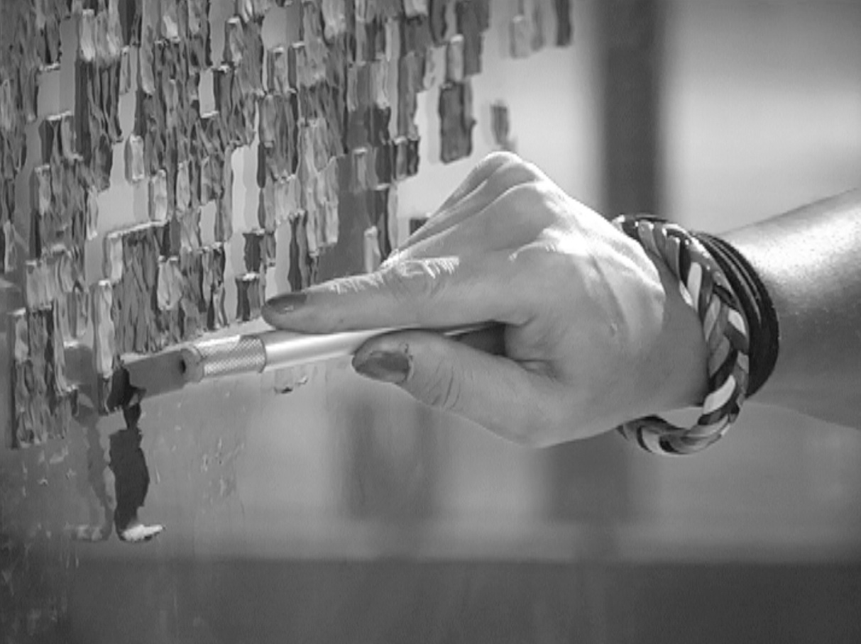Nita Tandon, Fingerprint Erased, performance video, 2012, MuseumsQuartier, Vienna, Austria